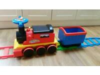 All Aboard Ride on Train with track Battery Powered ride ons sit on toy