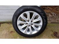 """1x 20"""" Range Rover Land Rover Land Rover CK52-1007-dA alloy wheel 255/55R20 tyre"""