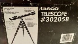 Tasco Telescope, boxed like new - comes with Philips Stargazer pack