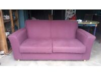 Habitat settee couch sofa 2 seater great condition purple aubergine