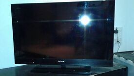 Sony Bravia 32 inch TV and a remote in good working condition