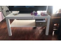 Ikea Lack White Coffee Table/Tv Stand