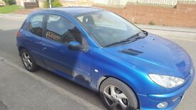 Peugeot 206, 1.6, 3dr, Blue, Clean paintwork/interior, MOT August 17, Sensible offers considered