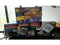 Vintage Super Nintendo console bundle. SNES