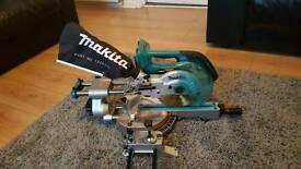 Cordless makita mitre chop saw