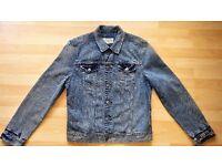 All Saints Mens Kita Denim Jacket SiZE XL [Distressed - 100% Cotton ] RRP £119