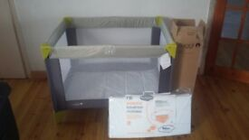 Baby/Toddler Travel Cot and Mattress, used only once, perfect condition