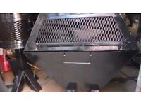 large fire pit bbq in gloss heat resistant black