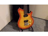Sterling by Music Man AX30 Cherry Red Burst & Case - Collection Only.