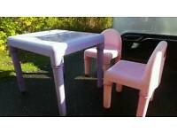Elc early learning centre table and chairs