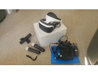 PS4 Virtual Reality headset, 2 x motion controllers, motion camera