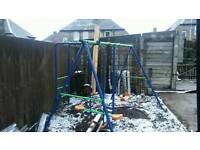 Kids garden swing/climbing frame/ seesaw