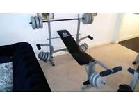 Marcy weight bench and 65kg of weights
