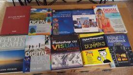 18 x BOOKS ON DIGITAL PHOTOGRAPHY, LIGHTING AND PORTRAITS.