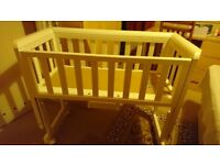 John Lewis cot bed, bedside crib in very good condition , Southfields Putney Wimbledon