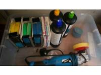 Car polishing kit/ polish and wax with trizact 3000