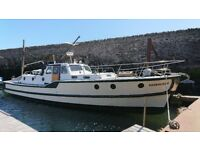 45' LIVEABOARD PROJECT BOAT, LOVELY FEATURES, GARDINER DIESEL, ONLY £15000