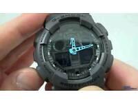 Casio G-shock Ga100 Neon Blue watch brand new.