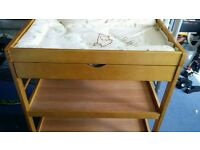 pine wooden baby changing unit
