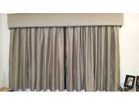 Curtains and pelmet 90inches x54 drop