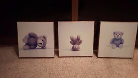 Set of 3 Teddy Pictures