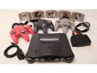 Nintendo 64 bundle, 3 controllers, 5 games inc Golden Eye 007 All in top working order & condition