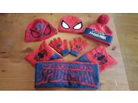 Spiderman Hat, Gloves and Scarf Bundle Age 3-6 years