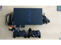 Playstation 2 Console and 2 controllers