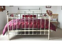 Original Victorian Bedstead with Modern detachable springing, and kingsize orthopaedic mattress