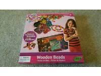 Wooden beads creativity set