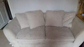 Beige cream 2-3 seat sofa. £50
