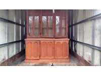 Solid wood caballero display cabinet