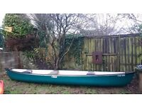 (sold)Pelican Colorado 15.5 feet canoe and two pedles