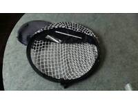 Golf chipping practice net.