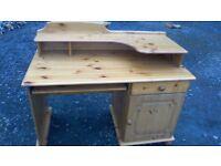 Solid pine desk/ computer work station