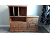 Pine Cupboard/ Media storage