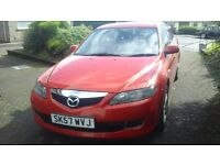 Mazda 6 for sale, ask for £1890, made in 2007, 59350 miles only, red colour, excellent condition