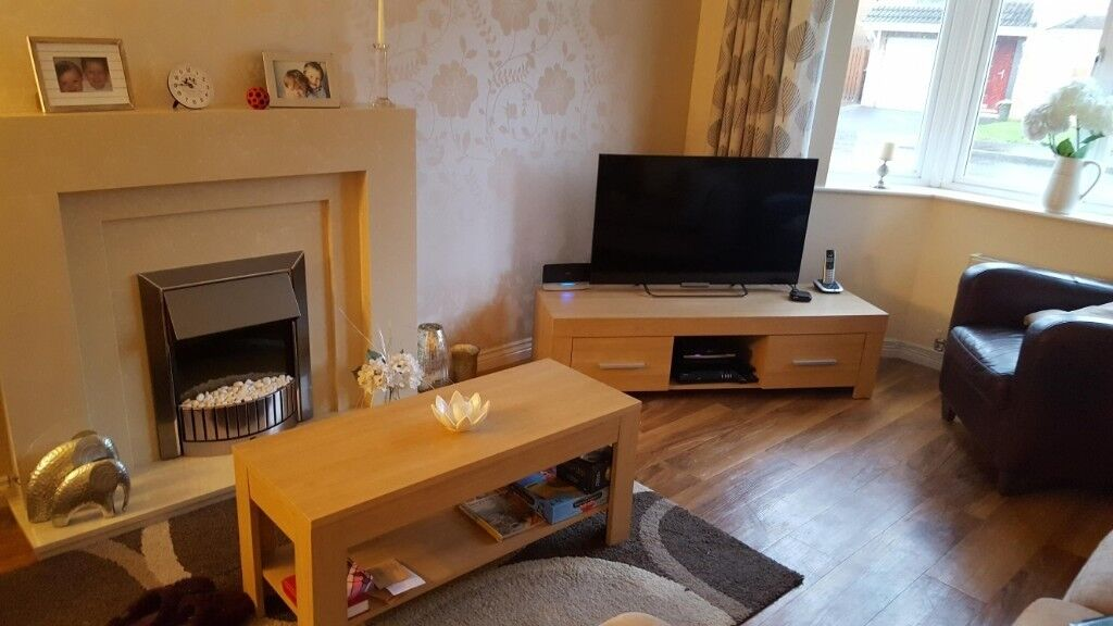 Modern Living Room Display Unit modern light oak living room furniture. matching tv unit, coffee