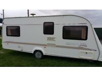 2002 compass Amazon GTE, 4 berth fixed bed touring caravan with accessories