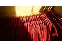 3 Pairs of Lined Velvet Curtains