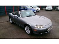 LOW MILEAGE 2005 MAZDA MX5 1.8 ARTIC SOFT TOP MET GREY NEW MOT ONLY £46K F/S/H HEATED LEATHER CD ETC