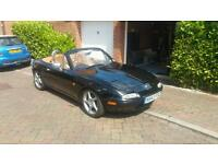 ***MAZDA MX5/EUNOS ROADSTER*SPECIAL EDITION*LEATHER*CHROME HOOPS*AIR CON*12 MONTH MOT*TONNEAU COVER*