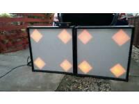 A pair of Retro Disco Light Screens & Four Controller