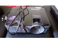 BENQ black projector with remote and bag new 230 £