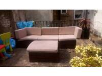 Rattan Garden Furniture - 4 piece corner