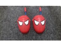 Kids spider man walkie talkie