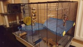 Large cage for hamster,Rat,or guinea pig with lots of accessories