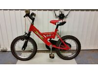 Bike for child age approx 4-6 size 14 ins wheels
