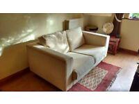 Cream 2-seat sofa