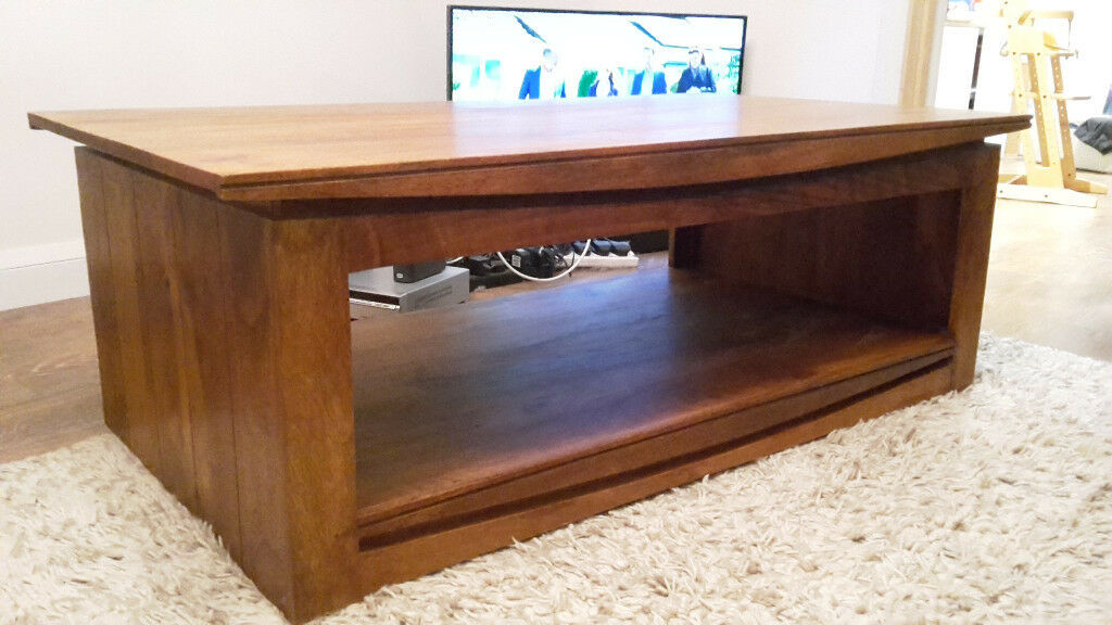 Oak Furniture Land Brown Teak Mango Coffee Table